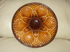LONGCHAMP FRENCH MAJOLICA OYSTER SHELL PLATE - 10 available *STUNNING*