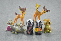 Catoon Bambi Thumper Plastic Assorted 7 pcs Figures Cake Topper Party Gift Toys