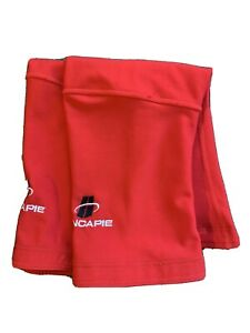 Hincapie Cycling Fleece Knee Warmers Size M Red Bicycle Cold Weather Fall Winter