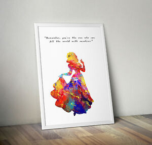 Snow white, print, poster, disney, quote, wall art, gift, picture, home decor
