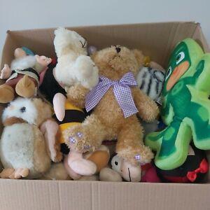 Box of 20 Mixed Second Hand Soft Toys Wholesale Job Lot  Grade B