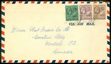 ANTIGUA : 1937 Air Mail cover to Canada.