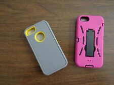 Apple iPhone 5/5S  Pink Armor Hybrid Cover Case With Kick Stand. Free