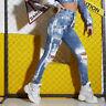 By Alina Mexton Damenjeans High-Waist Röhrenjeans Skinny Jeans Risse Print XS-S