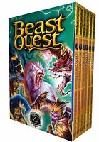 Beast Quest Series 4 The Amulet of Aventia (19 -24) 6 Books Collection Set Nixa