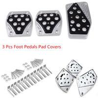 3 Pcs Aluminum Car APC Non-Slip Foot Pedals Pad Covers Manual Transmission M/T