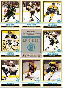 2009-10 OPC O-Pee-Chee Retro Boston Bruins Complete Team Set (27)