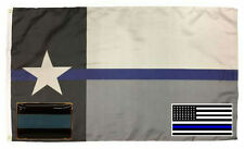 Wholesale 3x5 Police State Texas Flag Decal Sticker Blue Line Lapel Pin Set 5