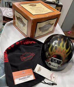 Harley Davidson Helmet Blazing Bones Skull Helmet MEDIUM