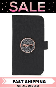 MIMCO BLISS IPHONE 11 FLIP CASE COVER BLACK ROSE GOLD *SALE* BNWT RRP$99.95