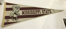 """VINTAGE MISSISSIPPI STATE UNIVERSITY BULLDOGS BANNER/ PENNANT 30"""" FREE SHIPPING!"""