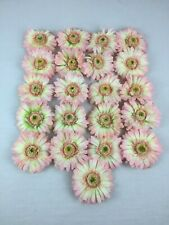 21 Artificial Flower Heads w/ Clips Attach to Wires on String Lights or Crafts
