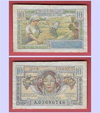BILLET DE 10 FRANCS TRESOR FRANCAIS - TYPE 1947  TTB . V/F 30/1