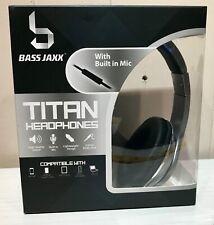New BASS High Quality JAXX TITAN Headphones w Mic HP-0100-Ast4 Silver