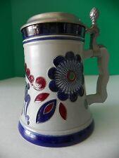 Original King pottery stein pewter lid Rein Zinn