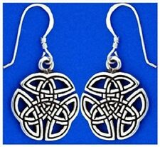 Knot Earrings Pewter Celtic Trinity