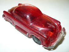 Vintage Japan plastic toy car tin plate base US Limousine red see through Buick