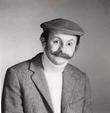 Journalist Laurent Broomhead Disguised Beret Moustache Old Photo 1980's