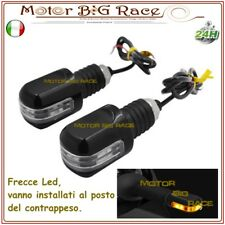 COPPIA BILANCERI STABILIZZATORI MANUBRIO MOTO SCOOTER CON FRECCE LED M405