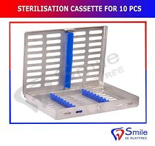Sterilization Cassette Rack Tray Holds 10 Dental Surgical Instrument Autoclave