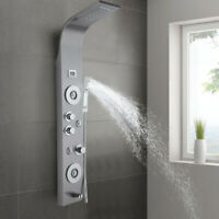 Stainless Steel Shower Panel Tower System LED Rainfall Waterfall Shower Head USA