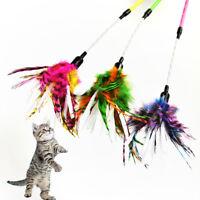 Multicolore Pet Jouet Papier Pied Spirale Plume Chat Teaser Bâtons Boule Sou PM