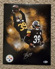 Minkah Fitzpatrick Signed Pittsburgh Steelers custom 11x14 edit. Beckett witness