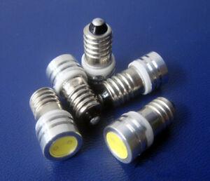5x Lamp 1 COB LED Bulb 6V Volt White MES E10 1447 Screw for Torch bike bicycle