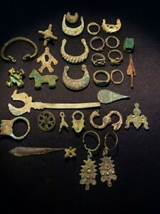 Ancient antique old bronze objects from central Asian and south Asian countries