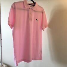 Lacoste Men's Polo Shirt Regular Fit Pink Size 5 Medium NEW Free Shipping!