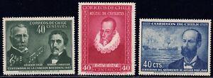 1947-48 Chile SC# 249-251 - Iquique Naval Battle - 3 Different Stamps - M-H