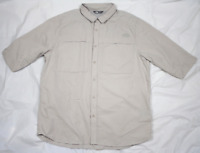The North Face Mens Short Sleeve Button Front Vented Outdoor Shirt Size XL