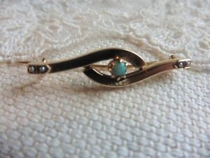 Antique 18ct Opal And Seed Pearl Brooch