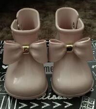 Mini Melissa Sugar Rain Bow BB Boots Little Girl/Toddler Size USA 7 Light Pink