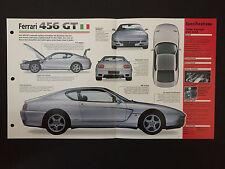 1998 FERRARI 456 GTA IMP Hot Cars Spec Sheet Folder Brochure RARE