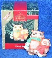Hallmark Keepsake Ornament Watch Owls Magic Light 1992