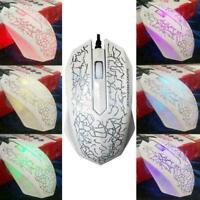 3200 DPI USB Wired Game 3D Mouse LED Gamer For Desktop PC Computer Laptop T J8V6