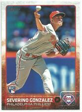 Severino Gonzalez Miami Marlins 2015 Topps Update Rookie Card