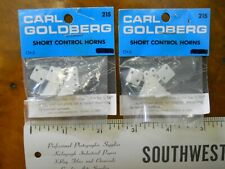 CARL GOLDBERG MODEL AIRPLANE PARTS SHORT CONTROL HORNS #215 (2 NEW SETS)