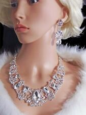 Statement Diamante Necklace and Earrings Set