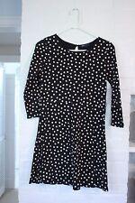 Gap Kids Girls Sz  Bright Blooms Black White Polka Dot Dress Spring WORN ONCE