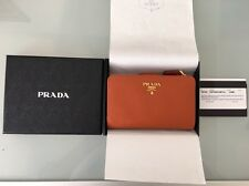 PRADA 1M1225 SAFFIANO METAL Rame Wallet Copper Leather New