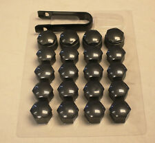 AUDI A3 A4 A5 A6 A7 A8 Q3 Q5 GREY WHEEL NUT BOLT COVERS LOCKING CAPS 17mm x20 1