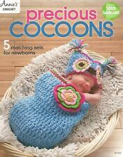 Precious Cocoons Sets Hats Newborn Annie's Crochet Patterns Owl Mermaid Sant NEW