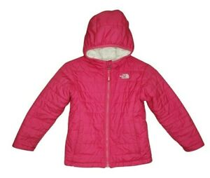 The North Face Girls 5 Toddler Pink Mossbud Swirl Reversible Hooded Jacket
