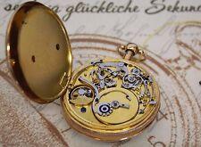 Große 18K Gold FVL Taschenuhr mit Repetition & Musikspielwerk pocket watch