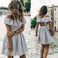Womens Summer Boho Maxi Dress Evening Cocktail Party Beach Dresses Sundress