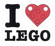 "I LOVE LEGO STICKER ~ 3.5""  VINYL DECAL HEART STICKER  * NEW *"