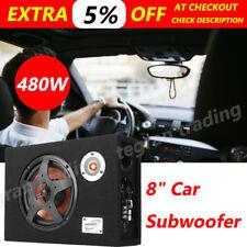"8 "" 480W Active Car Subwoofer Under-Seat Sub Woofer Speaker Hifi Bass Amplifier"