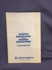Word Machine and Name Machine for Commodore 64 manual